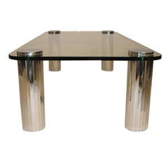 1970's Chrome Coffee Table