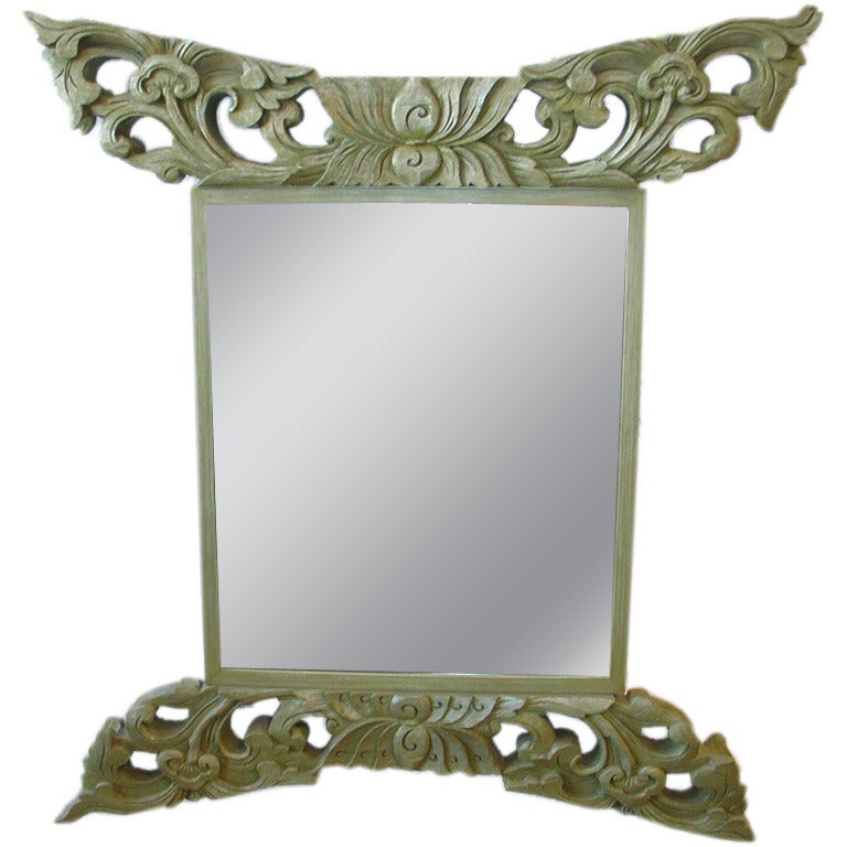 Asian style mirror at 1stdibs for Asian style mirror
