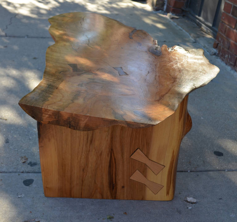 Adirondack Rustic Free Edge Slab Table For Sale At 1stdibs: Free Edge Coffee Table For Sale At 1stdibs