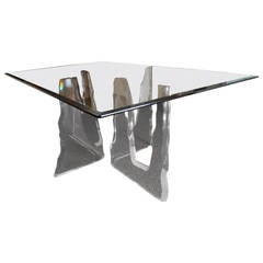 Lion in Frost Lucite Iceberg Dining Table