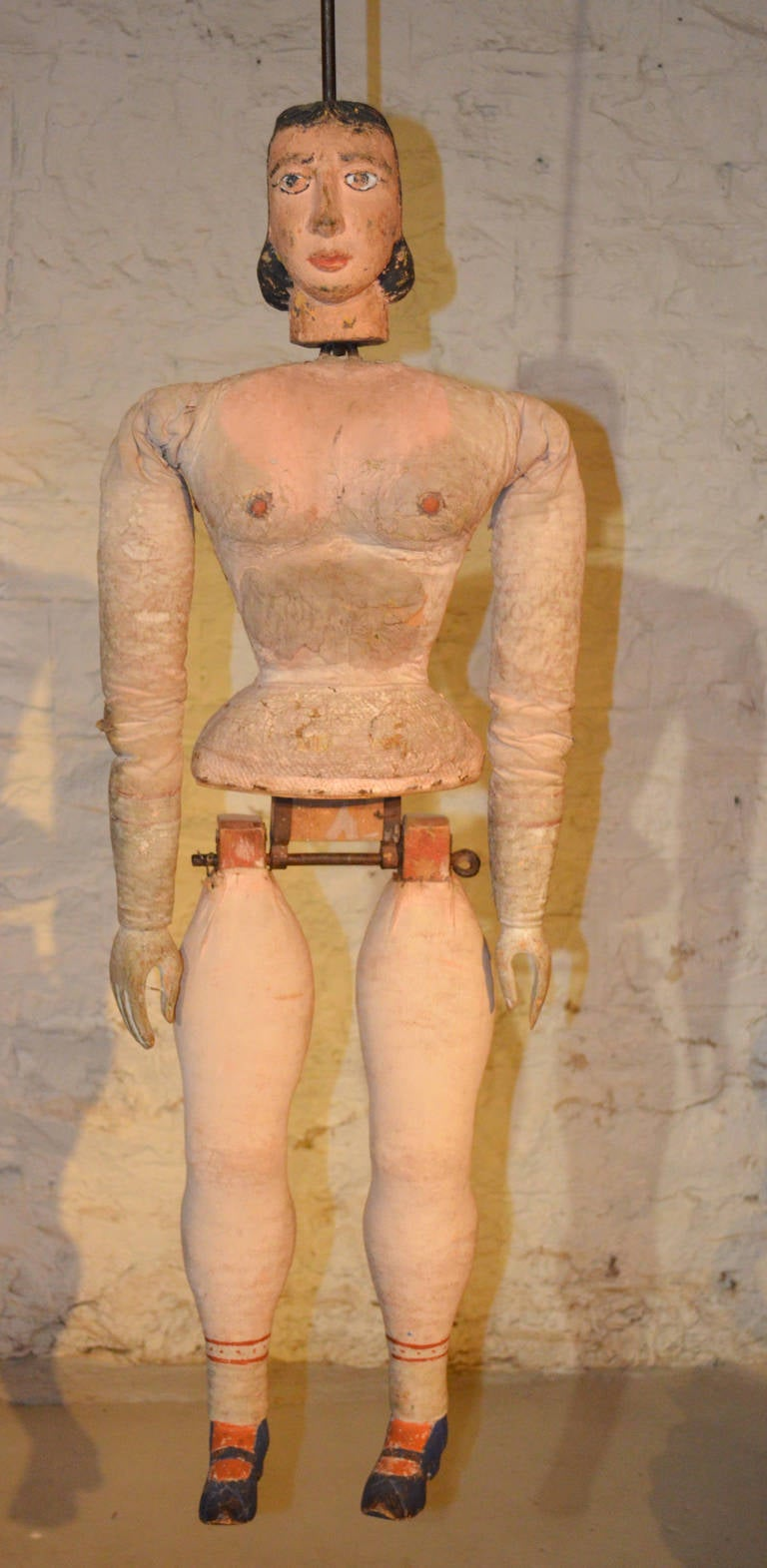 Italian Articulated Rod Puppet Sculpture For Sale 2
