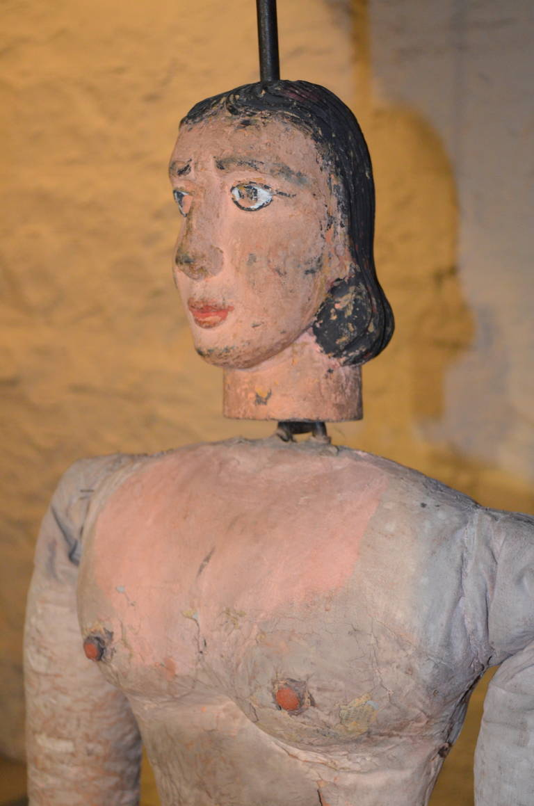 Italian Articulated Rod Puppet Sculpture For Sale 1