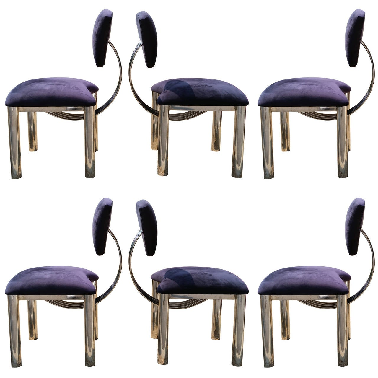 memphis style furniture. set of six memphis style chrome dining chairs in ettore sottsass 1 furniture