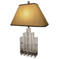 Skyscraper Lucite Lamp