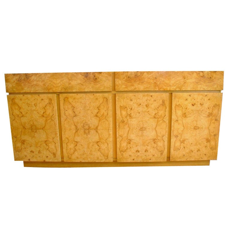 Lane Burl Wood Credenza At 1stdibs