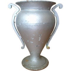 Large Metal Art Deco Urn