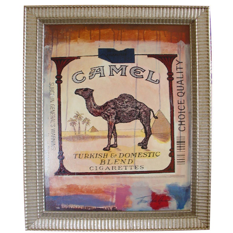 Pop Art  Painting of a Camel Cigarettes Package  by Thomas Van Housen