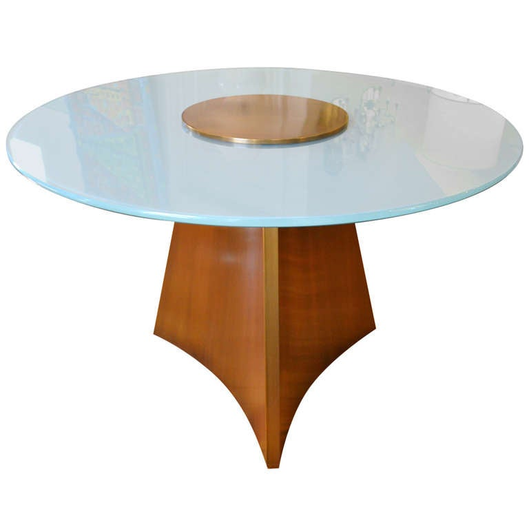 Center Table With Glass : ... Bronze and Round Glass Center Table in Style of Mastercraft at 1stdibs