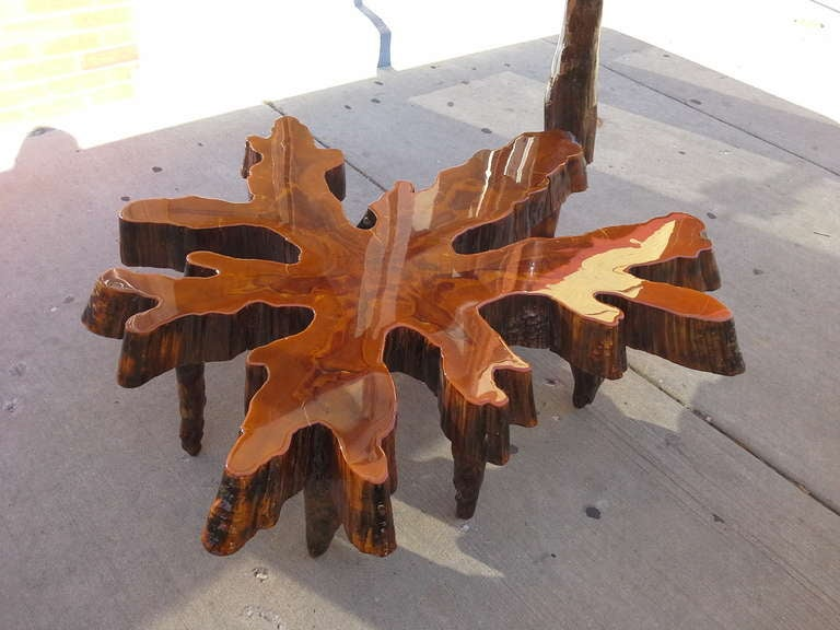 Monumental free form cypress slab coffee table for sale at for Cypress slab coffee table