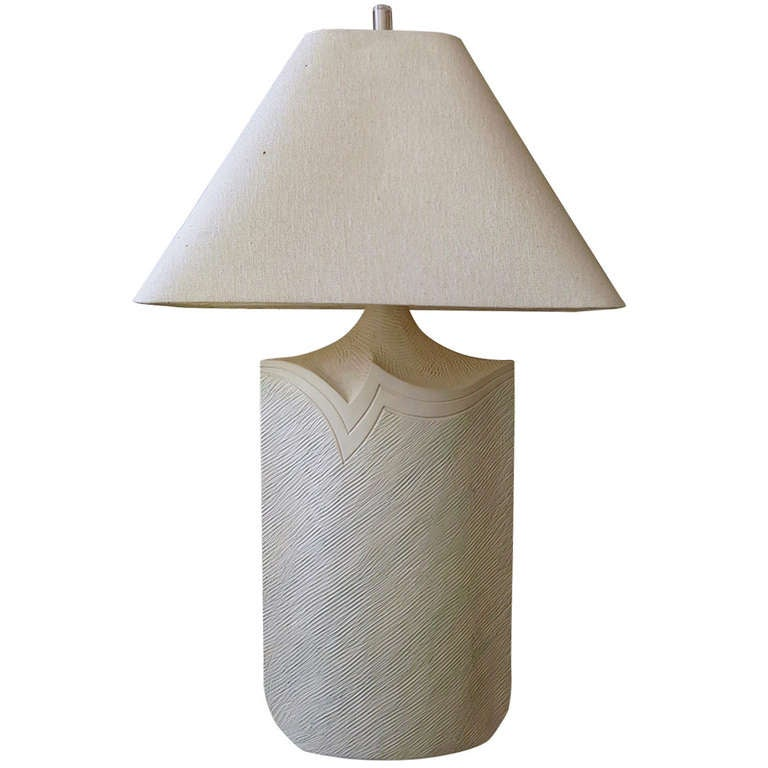 Large Plaster and Lucite Lamp by Casual Lamps of California