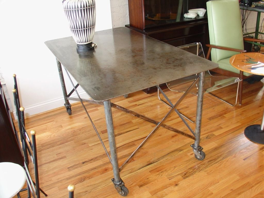 Industrial Steel Table image 3