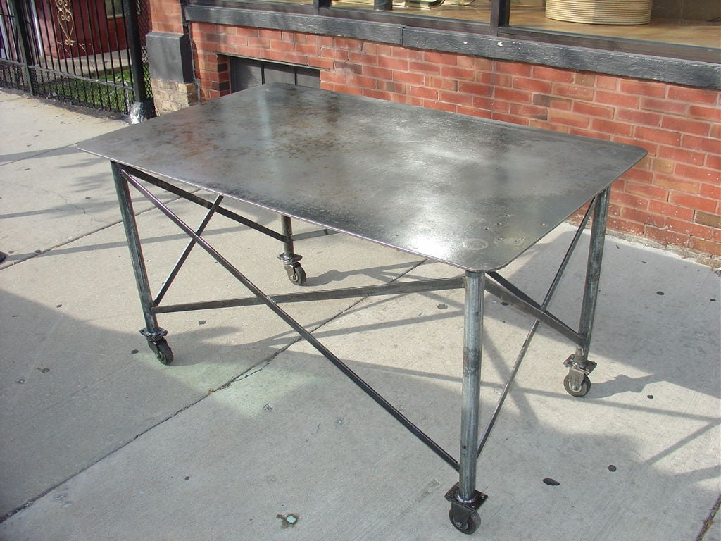 Industrial Steel Table image 6