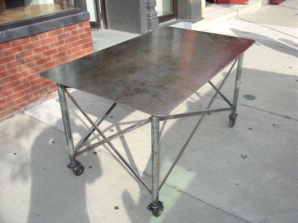 Industrial Steel Table image 7