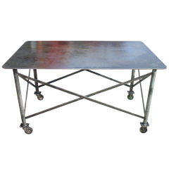 Industrial Steel Table thumbnail 1