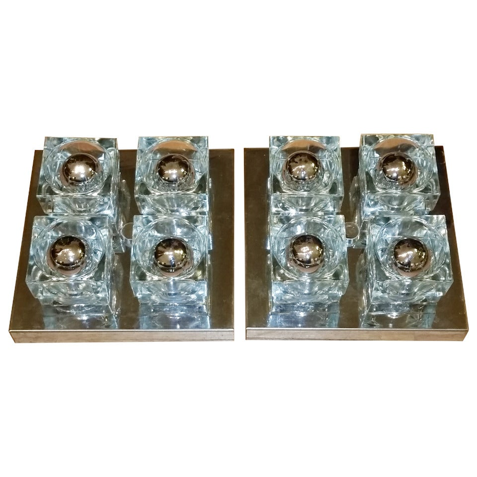 Wall Sconces Flush Mount : Pair of Scollari Wall Sconces at 1stdibs