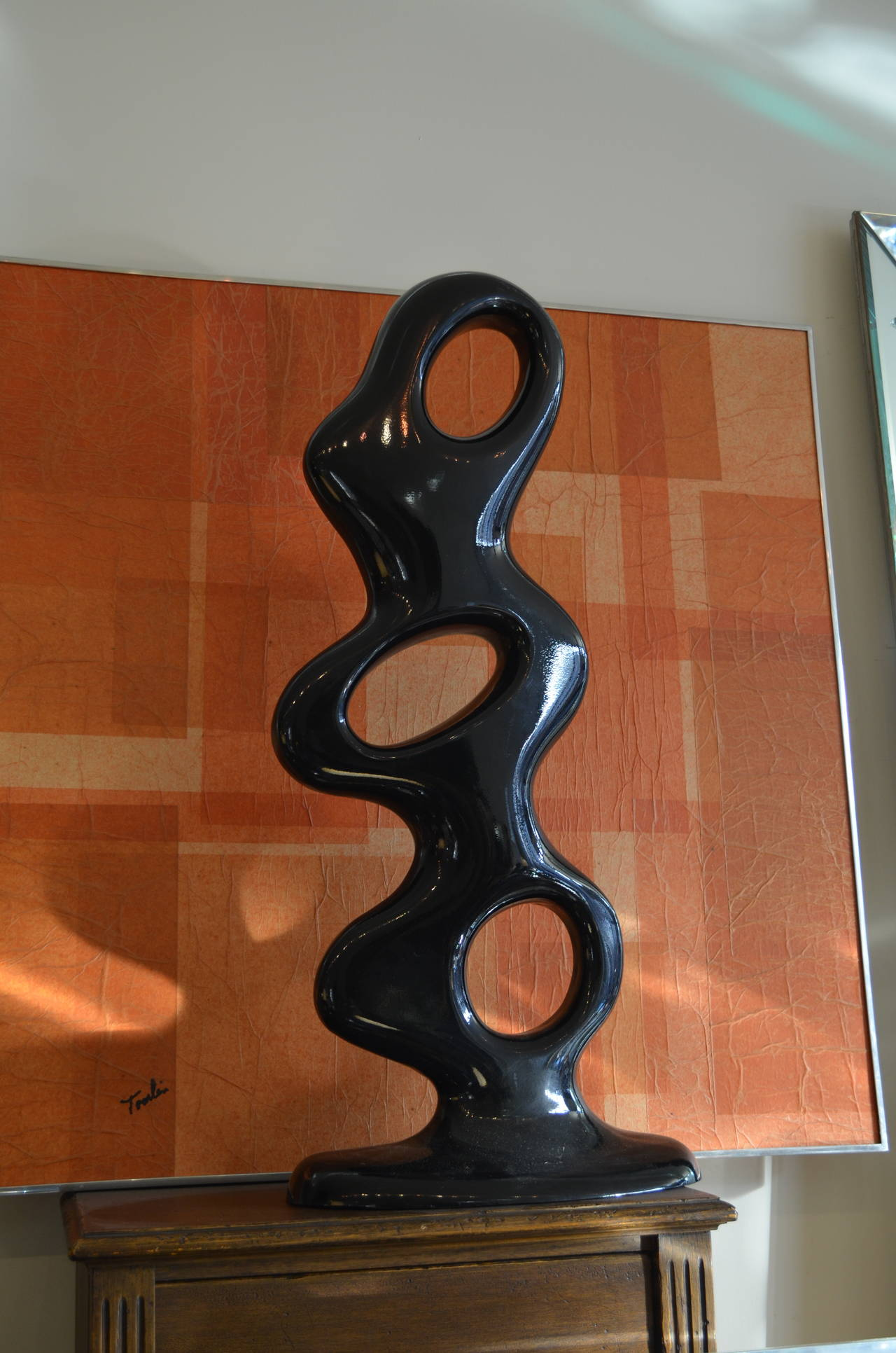 American Abstract Aluminum Biomorphic Sculpture For Sale