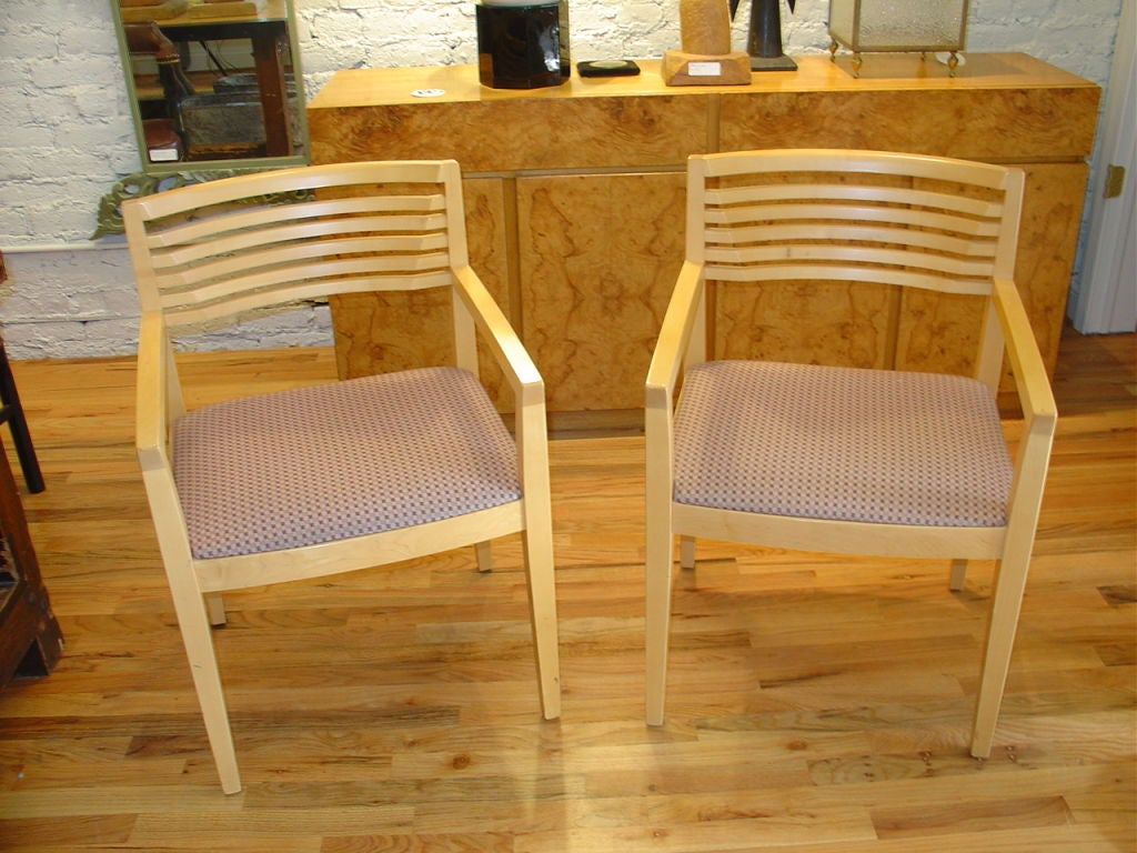 pair of joe ricchio side chairs for knoll at 1stdibs