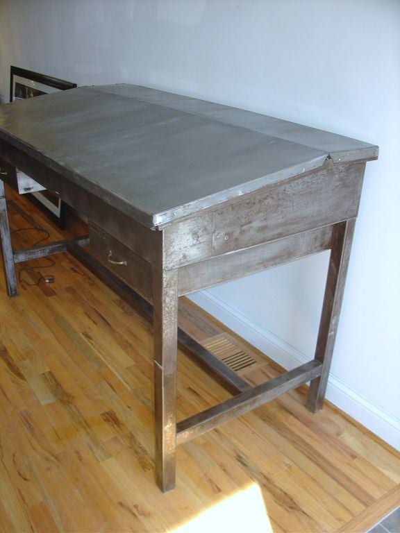 Industrial Steel Stand Up Desk At 1stdibs