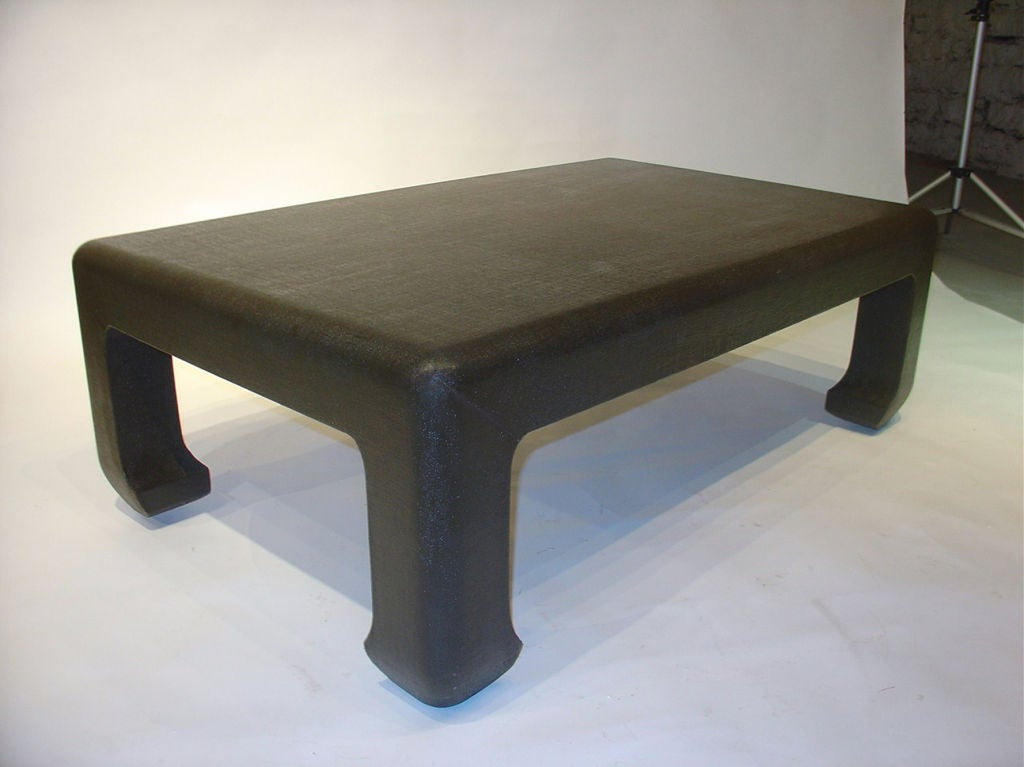 Linen Wrapped Coffee Table 2