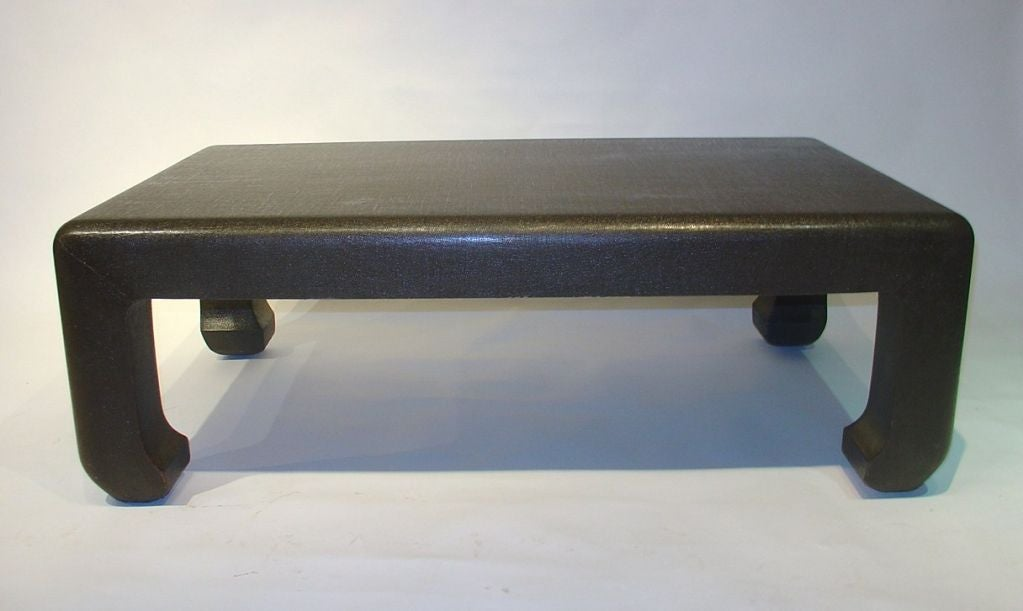 Linen Wrapped Coffee Table 3