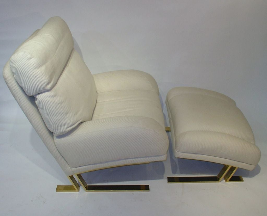 Milo Baughman Lounge Chair and Ottoman for Directional image 3