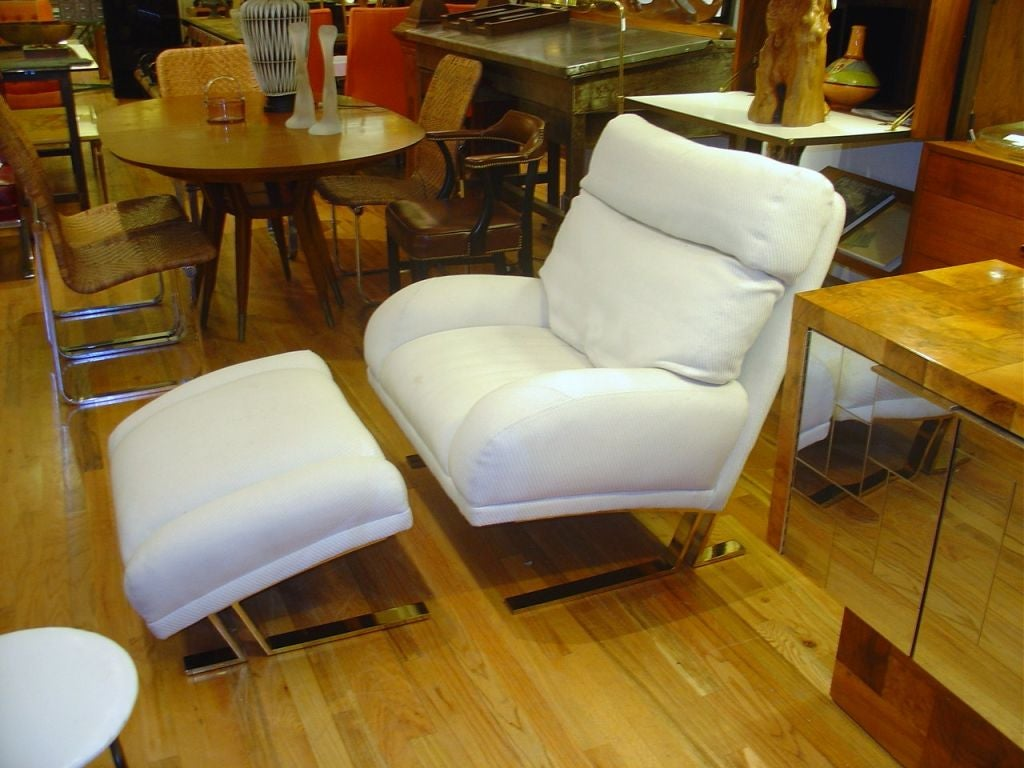 Milo Baughman Lounge Chair and Ottoman for Directional image 5