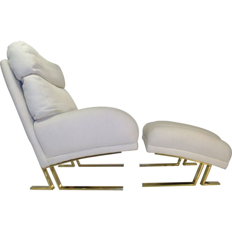 Milo Baughman Lounge Chair and Ottoman for Directional