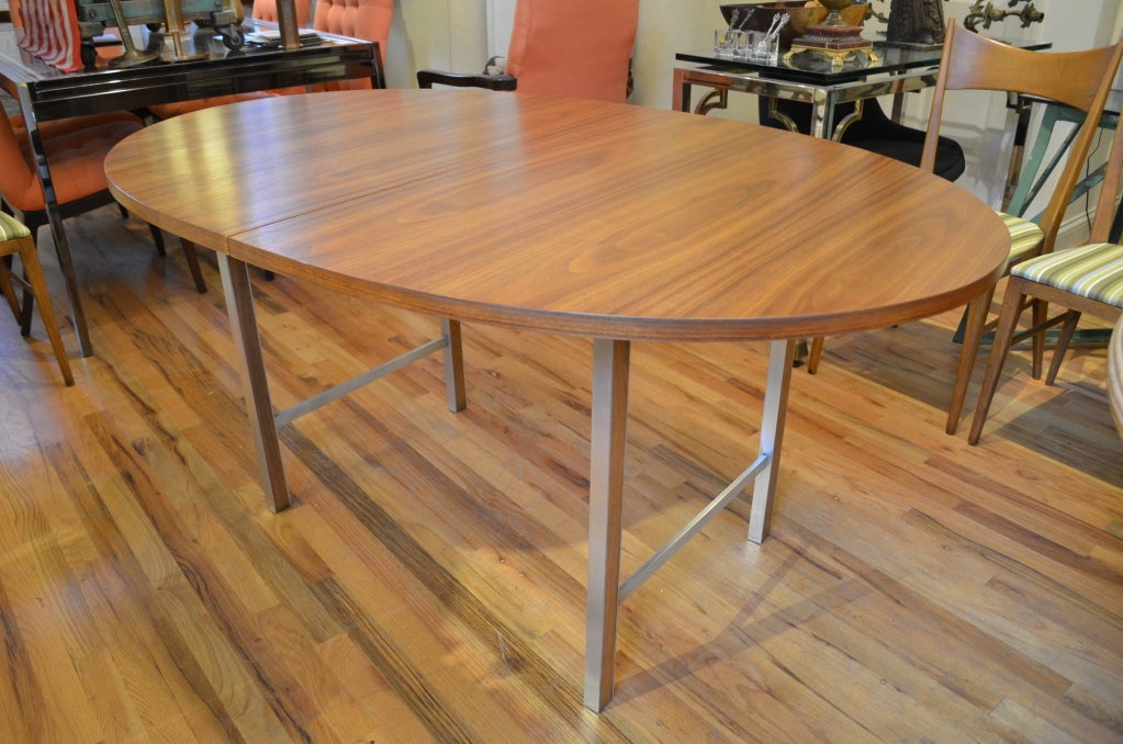 oval table with end extensions paul mccobb oval extension dining table at 1stdibs 7252