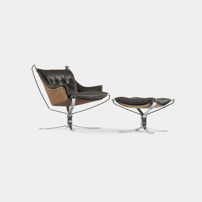 Falcon chair and ottoman by Sigurd Ressell 2