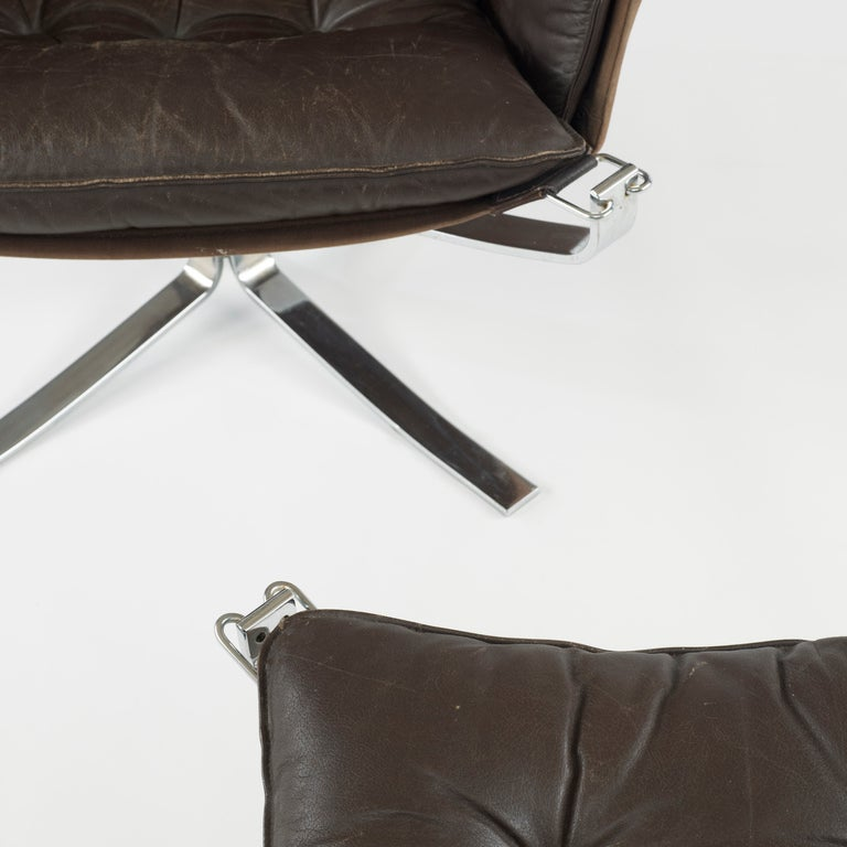 Falcon chair and ottoman by Sigurd Ressell 7