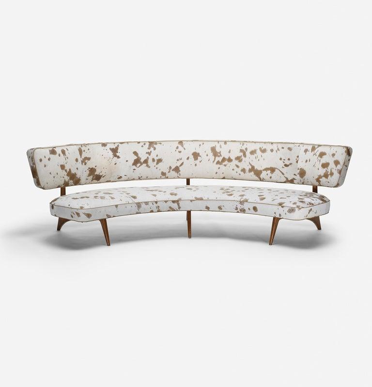Curved Floating Sofa: Floating Curve Sofa By Vladimir Kagan At 1stdibs
