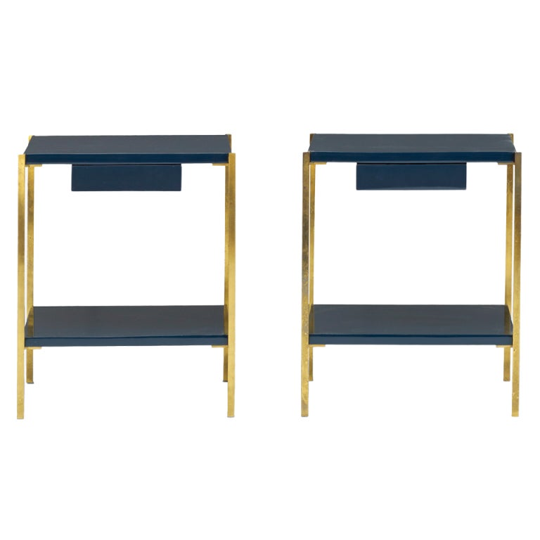 Nightstands, Pair By Maison Charles For Sale