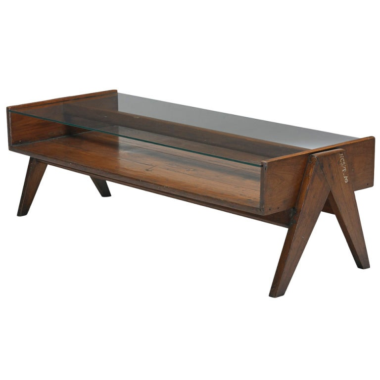 Coffee Table From Chandigarh India By Pierre Jeanneret At 1stdibs