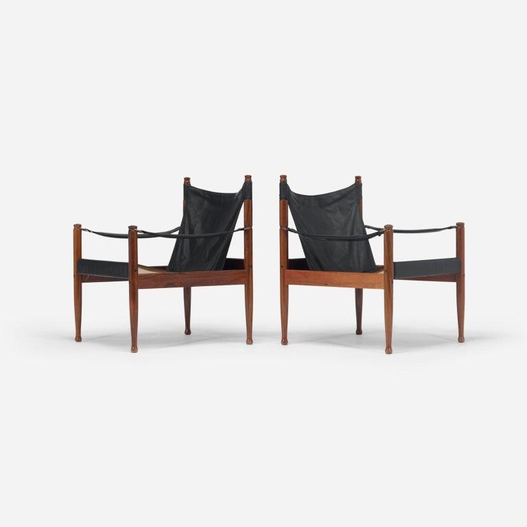 Safari chairs, pair by Erik Wørts 2