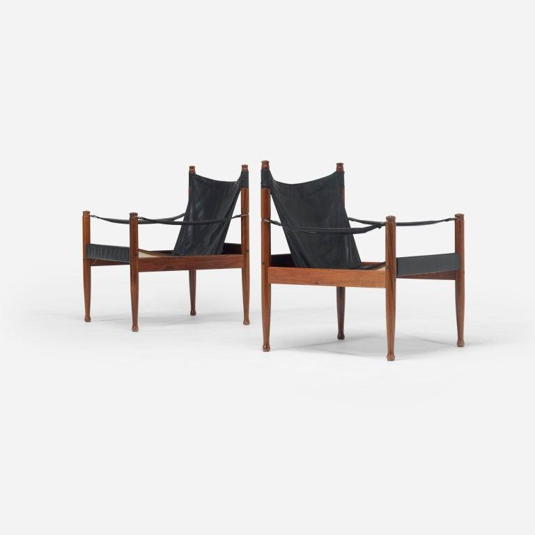 Safari chairs, pair by Erik Wørts 3
