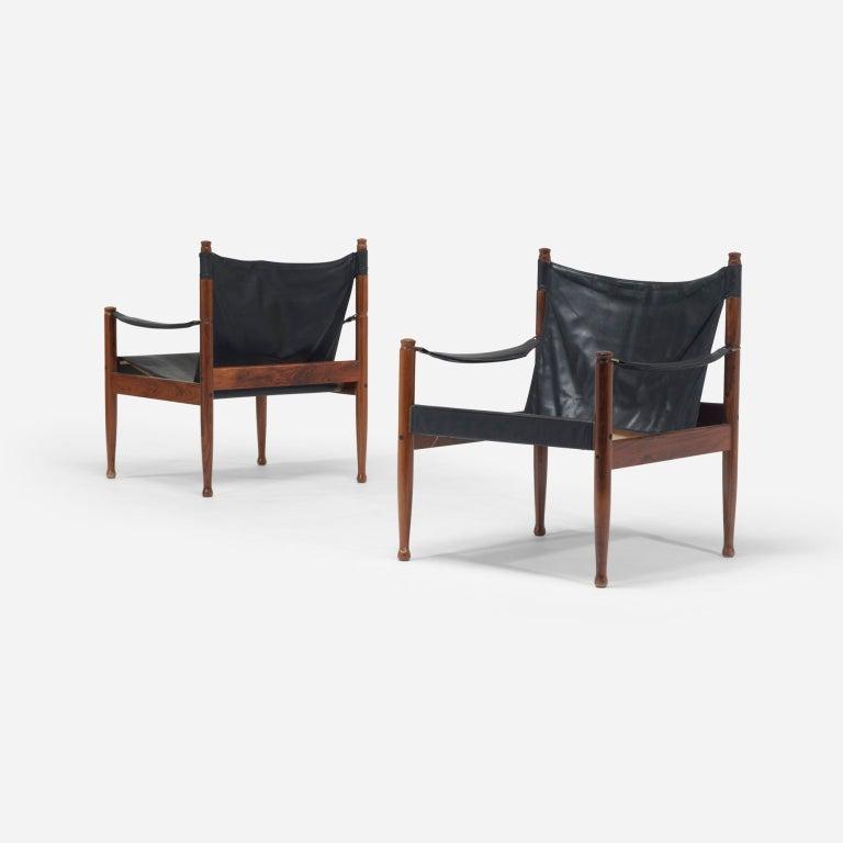 Safari chairs, pair by Erik Wørts 4