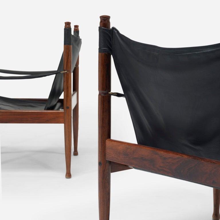 Safari chairs, pair by Erik Wørts 5