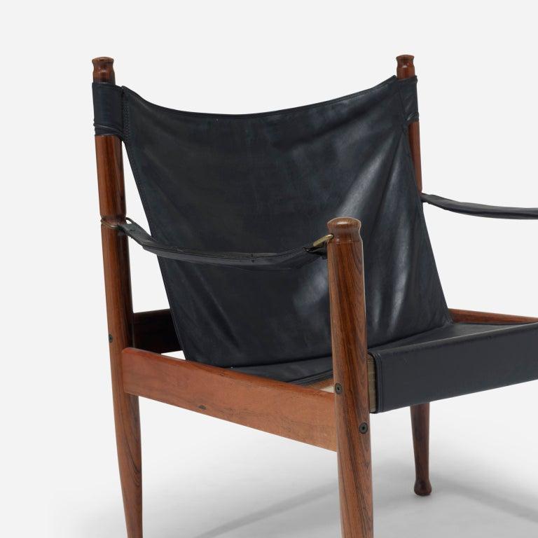 Safari chairs, pair by Erik Wørts 6