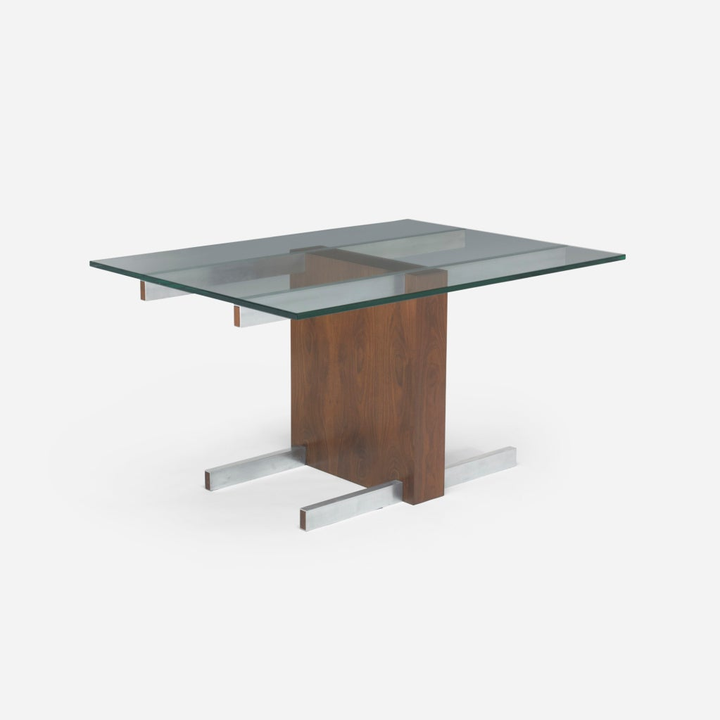 Glass top extension dining table model 6705 by vladimir kagan at 1stdibs - Extension dining tables small spaces model ...