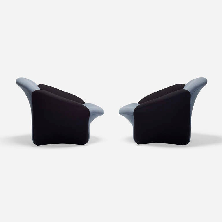 Lounge Chairs Pair By Pierre Paulin At 1stdibs