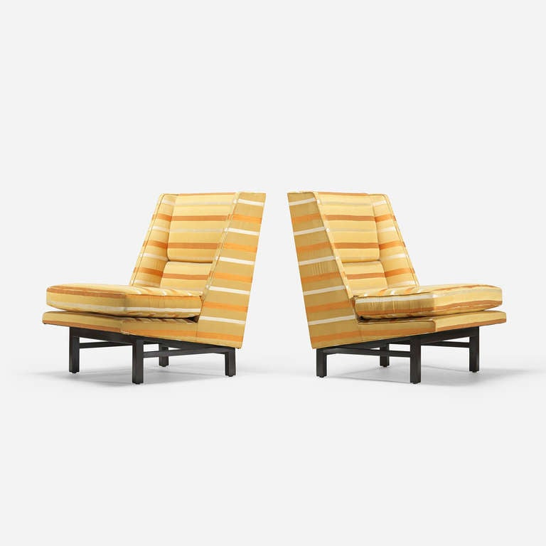 Lounge Chairs Pair By Edward Wormley For Dunbar Furniture