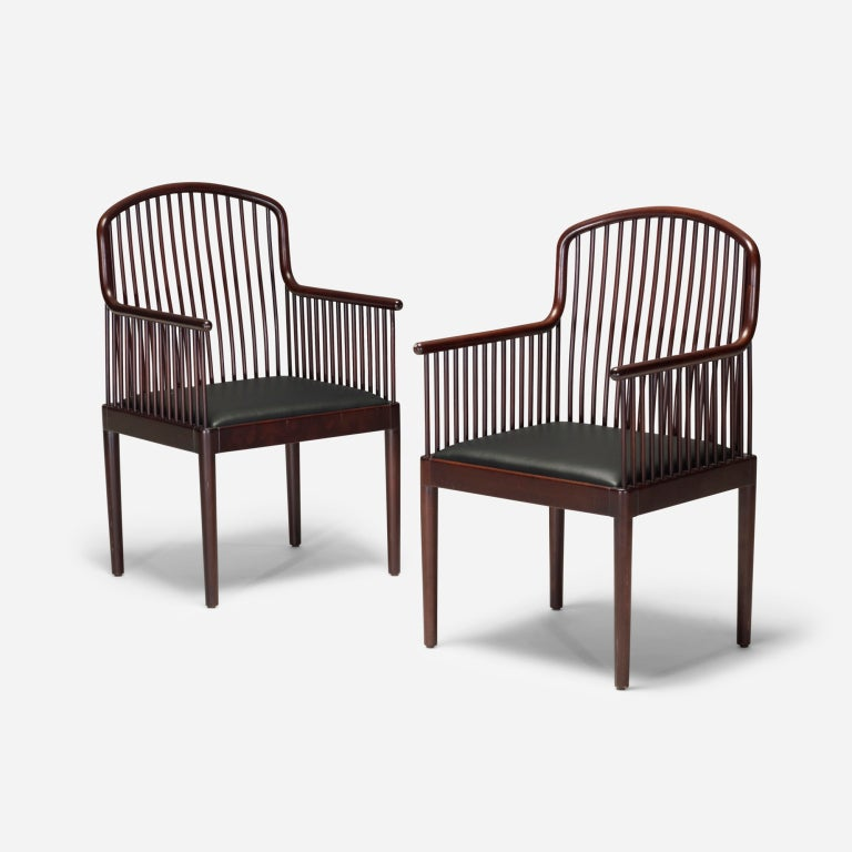 Exeter chairs set of eight by davis allen at stdibs