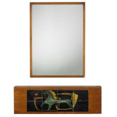 console and mirror from a Manhattan Interior by Vladimir Kagan