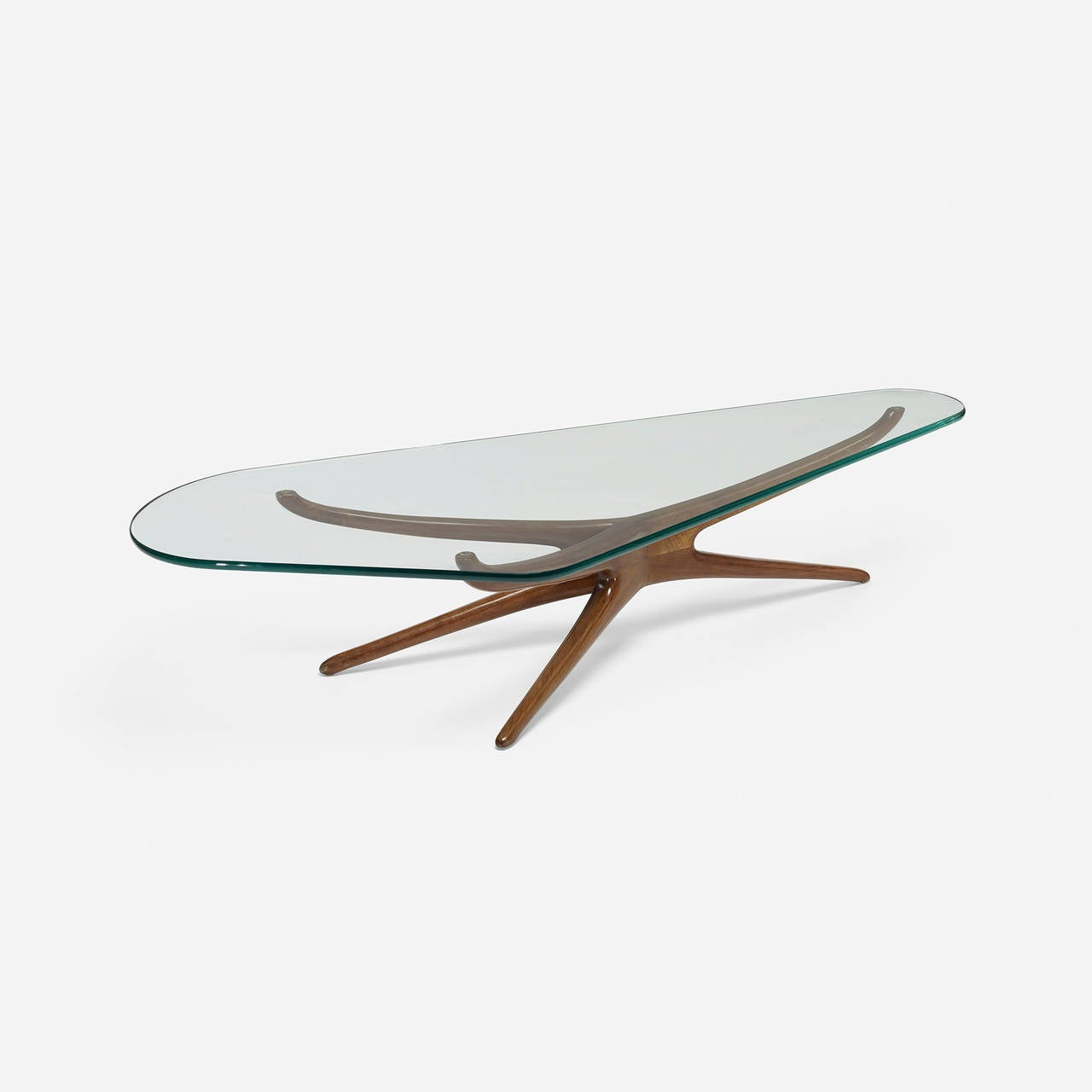 Tri Symmetric Coffee Table By Vladimir Kagan For Vladimir