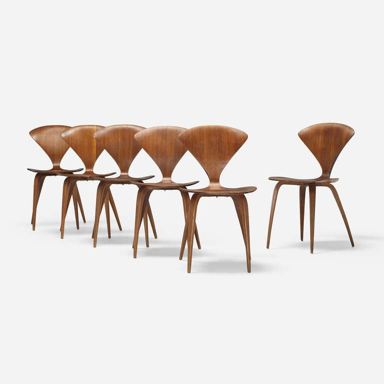 dining chairs set of six by norman cherner for plycraft 2