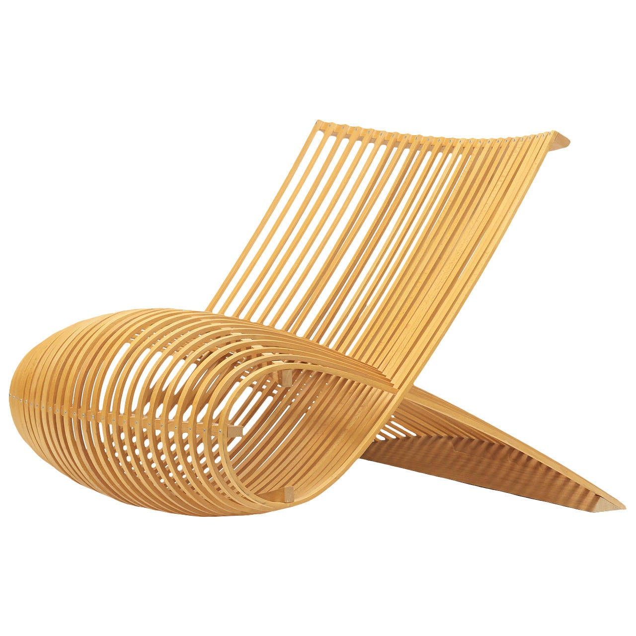 wooden chair by marc newson for cappellini at 1stdibs