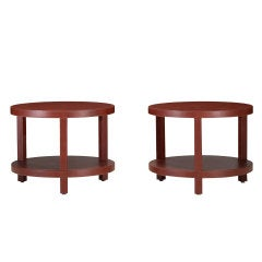occasional tables, pair by Dominic Chambon