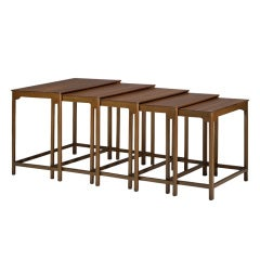 nesting tables models 4785, set of five by Edward Wormley