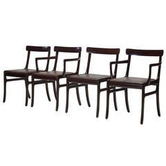 Set of Four Dining Chairs by Ole Wanscher