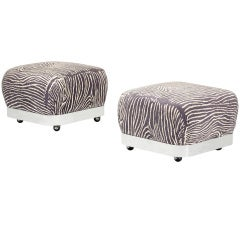 Pair of Ottomans by Karl Springer